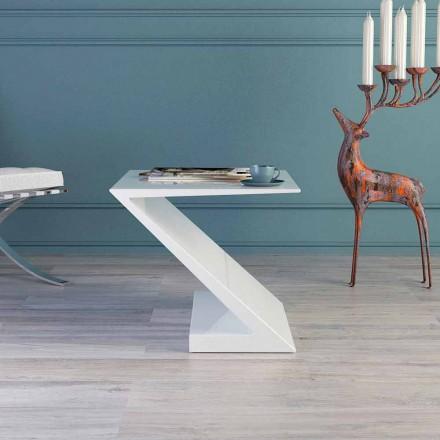 Beistelltisch weiß in modernem design Zeta Made in Italy