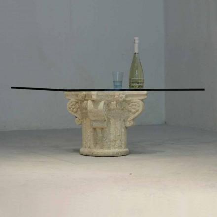 Couchtisch aus Stein und Kristall im klassischen Design Balos