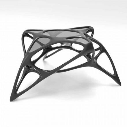 Couchtisch modern aus Glas und Solid Surface® Lunar Table#2