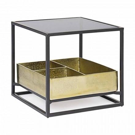 Homemotion Square Couchtisch mit Glasplatte - Sigismondo