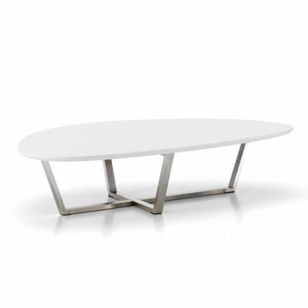 Moderner Loungetisch mit weißer MDF - Platte - fertig