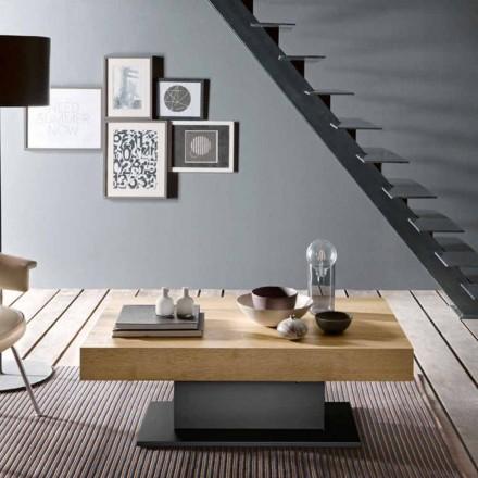 Transformator Tisch aus Holz und Stahl Made in Italy - Demetro
