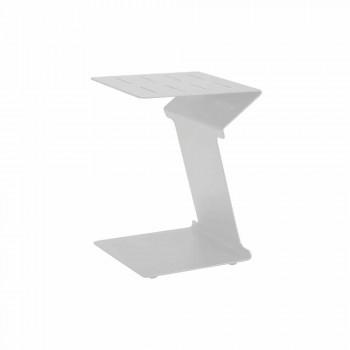 Beistelltisch für Sofa für den Außenbereich aus weißem oder schwarzem Aluminium - Denix