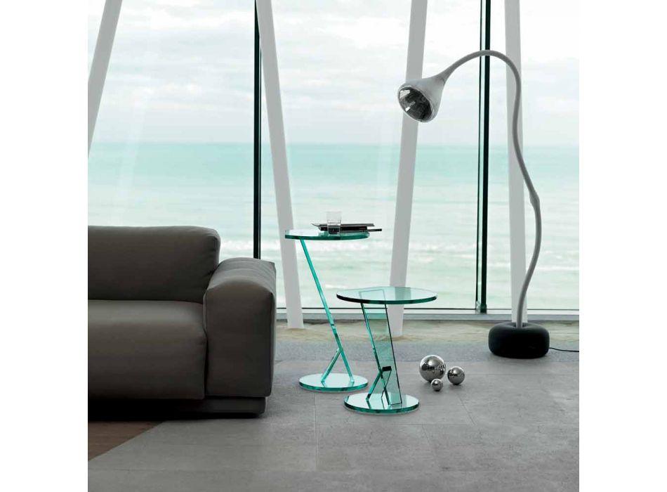 Beistelltisch Sofa aus extra klarem Glas Made in Italy - Tarzan