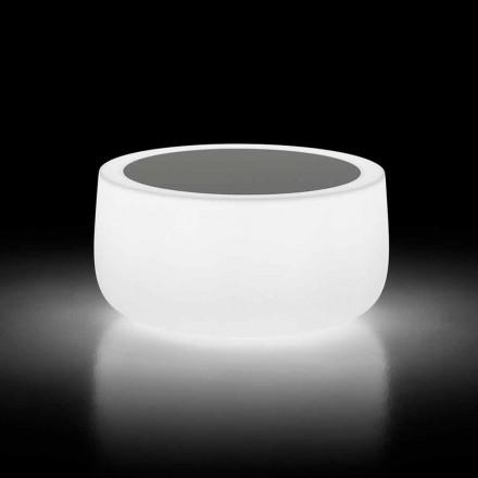 Leuchtender Couchtisch im Freien mit LED-Licht und HPL-Platte Made in Italy - Belida
