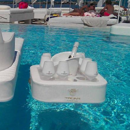 Kaffeetisch - Schwimmwanne aus Kunstleder und Plexiglas nautischen Trona