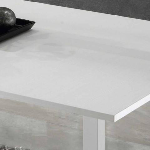 Ausziehbarer Tisch auf 2 m von 10 Sitzplätzen modernen Designs in Holz - Tuttetto