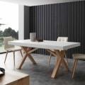 Ausziehbarer Tisch aus Massivholz Rico