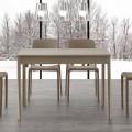Ausziehbarer Esstisch mit Beinen aus Massivholz Empoli, mit modernem Design