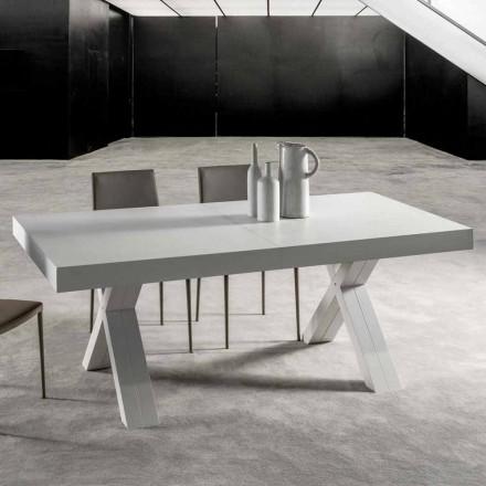 Ausziehbarer Esstisch, Tischplatte aus Melaminholz - Atessa