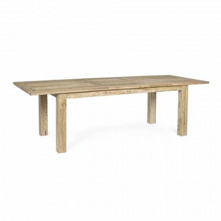 Ausziehbarer Gartentisch bis 260 cm in Holz, 8 Sitzplätze Homemotion - Gismondo