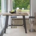 Ausziehbarer Tisch bis zu 280 cm aus Holz und Metall Made in Italy - Gallotto