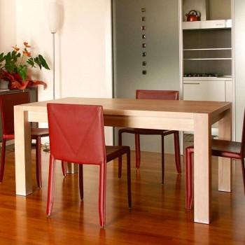 Ausziehbarer Designtisch aus Eichenholz, L160 / 260xP90cm, Jacob