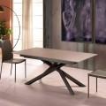 Ausziehbarer Designtisch mit Metallbeinen Lucera