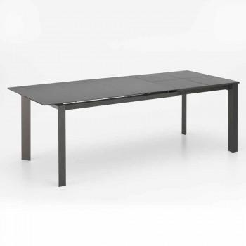 Design ausziehbarer Tisch mit Keramik- und MDF-Platte, Nosate