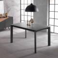 Ausziehbarer Designtisch mit Keramikplan und mdf Nosate