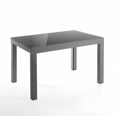 Ausziehbarer Designtisch aus Glas und Metall - Guerriero