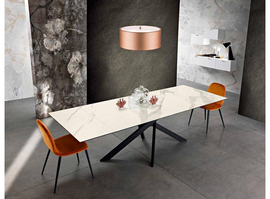 Ausziehbarer Design-Tisch aus Keramikglas made in Italy, Dionigi