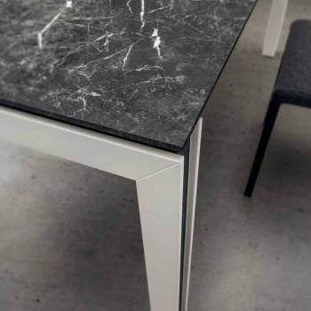 Ausziehbarer Tisch Bis zu 240 cm in Laminam, Holz und HPL Made in Italy - Polo