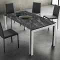 Ausziehbarer Tisch Bis zu 240 cm Design in Holz und Hpl Made in Italy - Polo
