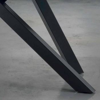 Ausziehbarer Tisch bis 300 cm aus Fenix und Stahl Made in Italy - Settimmio