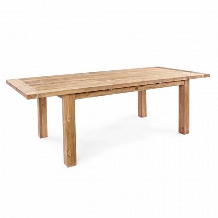 Homemotion - Hunter Teak Wood ausziehbarer Gartentisch Bis zu 250 cm