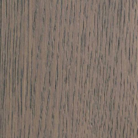 Ausziehbarer Tisch aus Eschenholz mit grau lackierten Seitenbändern - Ketla