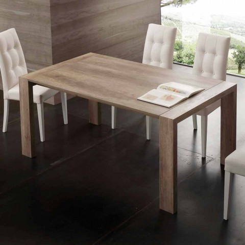 Ausziehbarer Tisch aus Melamin MDF und moderner Jesi