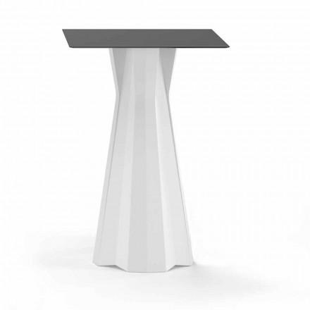 Hoher Tisch mit HPL-Platte und Polyethylenbasis Hergestellt in Italien - Tinuccia