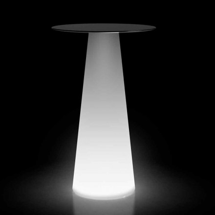 High Light Tisch im Freien mit LEDs aus HPL und Polyethylen Made in Italy - Forlina
