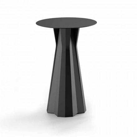 Hoch Polyethylentisch mit runder Hpl-Platte Made in Italy - Tinuccia