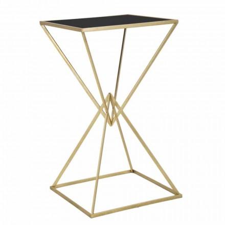 Quadratischer Stehtisch des modernen Designs in Eisen und Glas - Hily