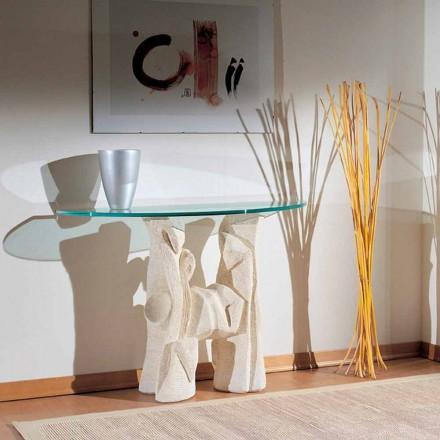 Konsolentisch aus Stein und Kristall in modernem Design Dios