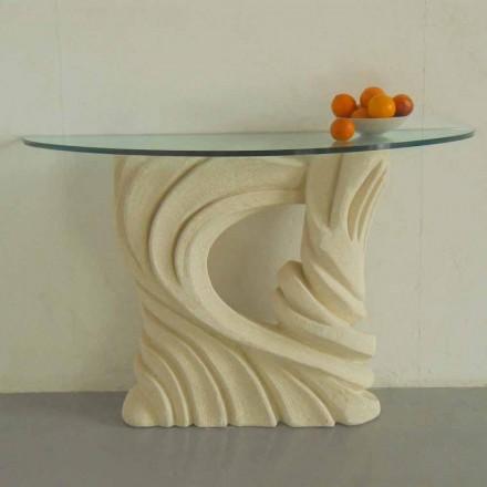 Konsolentisch aus Stein und Kristall in modernem Design Emera