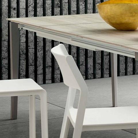 Ausziehbarer Küchentisch Bis zu 240 cm in Hpl Made in Italy - Fantastisch