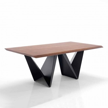 Küchentisch aus Mdf und Metall modernes Design - Helene