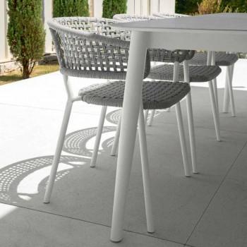Ausziehbarer Tisch im Freien bis zu 3 Meter Talenti Moon Alu aus Keramik
