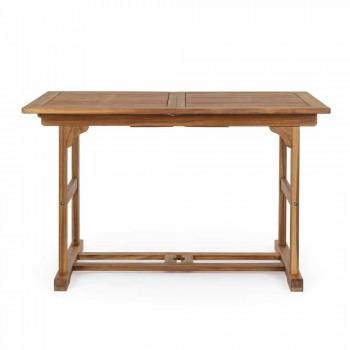 Ausziehbarer Tisch im Freien Bis zu 160 cm in Akazienholz - Wolke