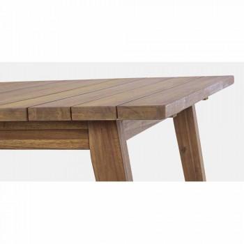Ausziehbarer Tisch im Freien Bis zu 240 cm in Akazienholz - Howard