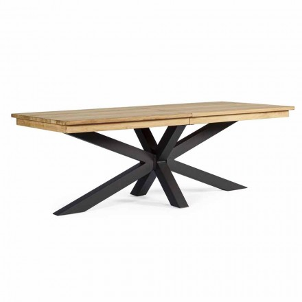 Ausziehbarer Tisch im Freien Bis zu 300 cm in Teak, Homemotion - Selenia