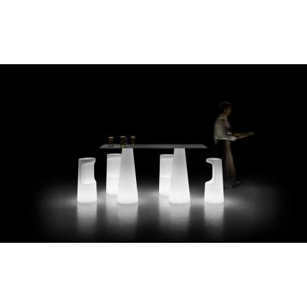 Moderner Außenleuchttisch mit LED-Lichtbasis Made in Italy - Forlina