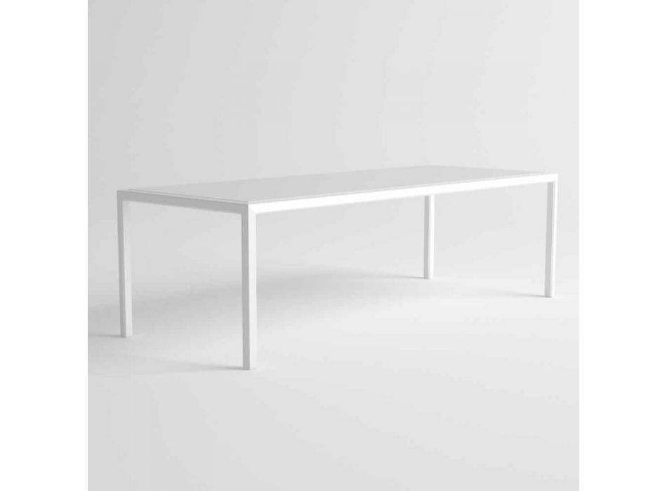 Außentisch aus Aluminium mit modernem Design für den Garten - Mississippi2