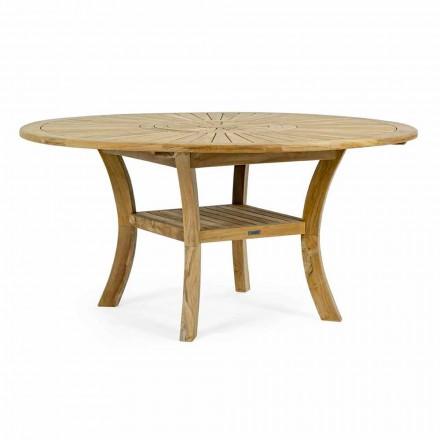 Teak-Außentisch mit drehbarer Mittelplatte, Homemotion - Dimitris
