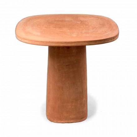 Quadratischer Terrakotta-Tisch im Freien 70x70 cm Made in Italy - Yulia