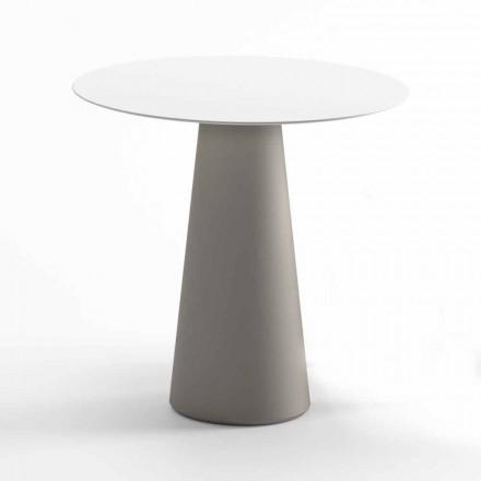 Moderner Tisch im Freien aus HPL und opakem Polyethylen Made in Italy - Forlina