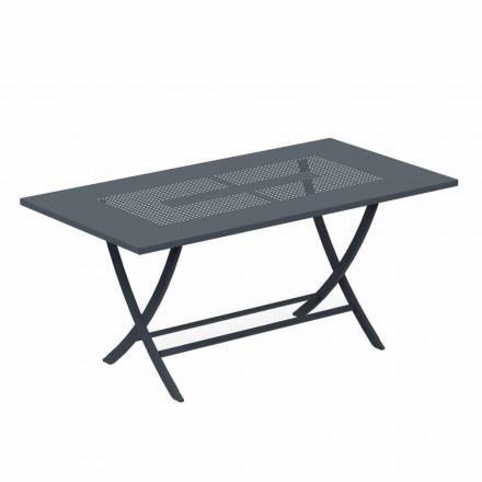 Klappbarer Tisch im Freien aus modern lackiertem Metall Made in Italy - Doria