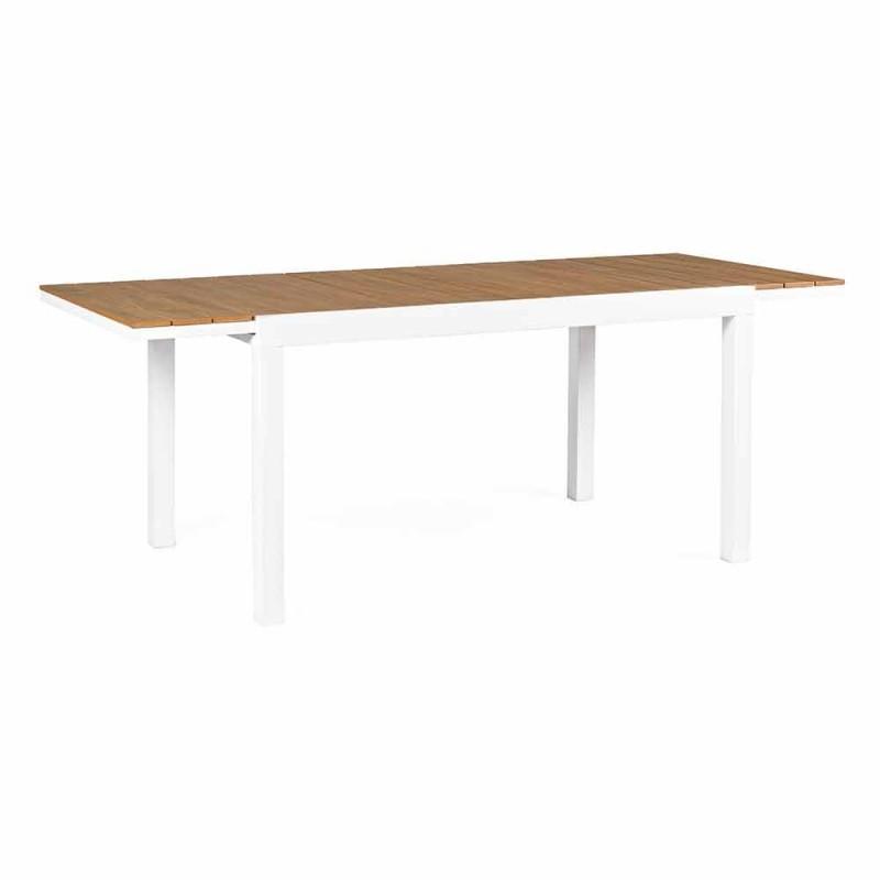 Ausziehbarer Gartentisch aus weißem Aluminium Modern Homemotion - Sciullo