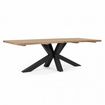 Gartentisch mit Platte aus Teakholz von Homemotion - Cowen Design