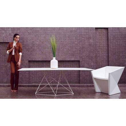 Moderner Gartentisch aus HPL und Edelstahl Faz Vondom