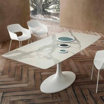 Barrel Esstisch aus Laminam und synthetischem Marmor Made in Italy - Brontolo